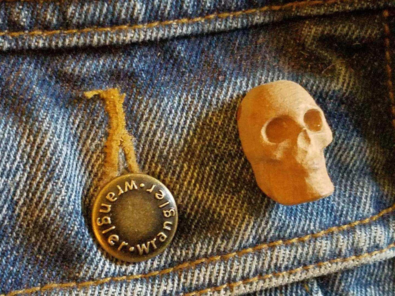 Wooden Skull Pins