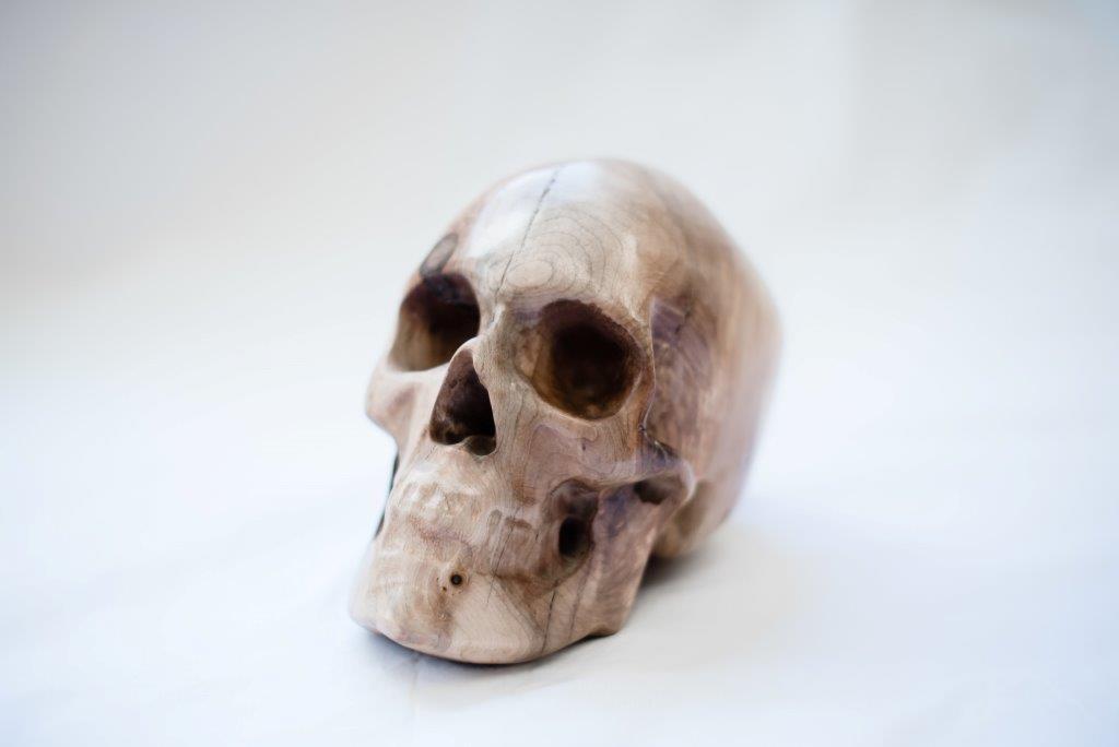 Full Size Wood Skull